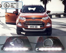 Luci Diurne LED Daytime Fari DRL Fendinebbia Per Ford Ecosport 2013 2014 13 14