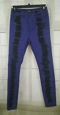 BDG Urban Outfitters Graphic Black Blue High Rise Twig Ankle Jeans 25W 29L NWT