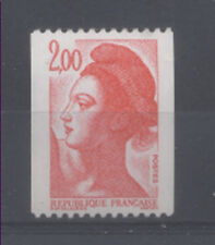 FRANCE TIMBRE ROULETTE 2277a N° rouge au verso LIBERTE rouge - LUXE **
