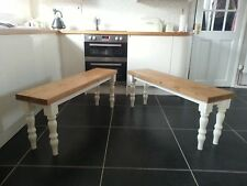 2 x 4Ft Dining Benchs, Solid Pine Kitchen Benches, Bespoke Dining Chair