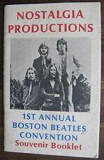 The Beatles - 1st Annual Boston Beatles Convention Souvenir Booklet (program)