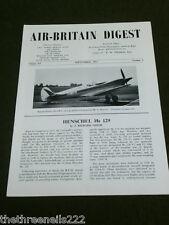 AIR BRITAIN DIGEST - SEPT 1963 VOL 15 # 9 - HENSHEL Hs 129