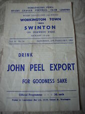 29.2.64 Workington Town v Swinton programme Chall. Cup