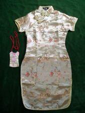 New Girls Gold Chinese/Oriental  Dress 4-5 Years+Purse
