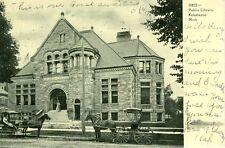Kalamazoo,MI. 1906 Horse Traffic outside the Public Library