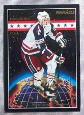 Jason McBain Hartford Whalers Team USA 1993-94 Pinnacle Signed Card