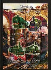 MALAWI 2012 TRAINS SHEETLET (NO1) MNH