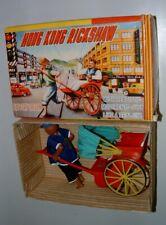 * 1960s70s Battery Op Plastic Honk-Kong Rickshaw In Original Box