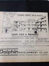 62-12 1963 Ephemera Advert House Sale Birchington On Sea Carmel Court Beach Aven