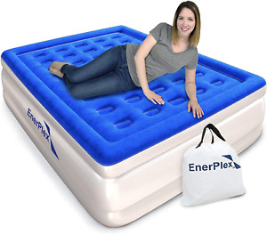 Queen Air Mattress for Camping, Home & Travel-16 Inch Double Height