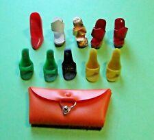 Vintage Barbie Shoes and Purse Lot