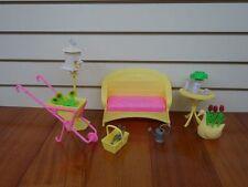 Gloria Doll House Furniture Sunlight Garden Playset- Fits Barbie