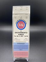 1990 Champs Detroit Pistons v Sacramento Kings 3/6 Ticket Isiah Dumars Rodman