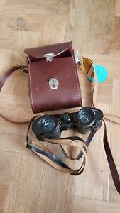 Carl Zeiss Jena 8x30 multicoated binoculars plus case.