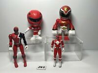 BANDAI MIGHTY MORPHIN POWER RANGER RED FIGURE BUNDLE
