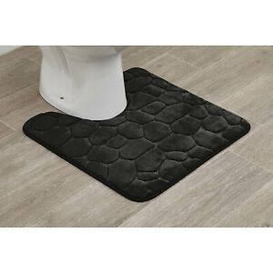 Stone Mat Contour Rug Toilet Bath Mat Non-Slip Memory Foam Absorbent and Soft