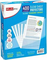 400 Sheet Protectors 8.5 x 11 Inches - Clear Plastic Sheet Protector Sleeves