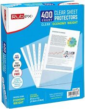 400 Sheet Protectors 85 X 11 Inches Clear Plastic Sheet Protector Sleeves