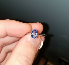 New Oval 1.5ct Swiss Blue Topaz Ring 925 Sterling Silver Size 8 Free Shipping