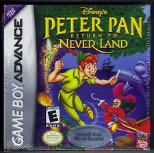 GBA DISNEY'S Peter Pan Ritorno a Neverland (2002) & Nuovo Di Zecca Sigillato in Fabbrica