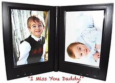 Dual Recording Talking Photo Table Picture Frame Memories You Can Hear! Black