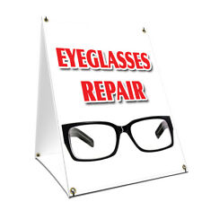 A-frame Sidewalk Sign Eyeglass Repair With Graphics On Each Side