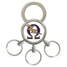 SALE! Omega Psi Phi 3-Ring Key Chain: Omega Lightning Bolt!