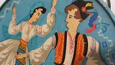 VINTAGE MUSICAL INSTRUMENT DAYEREH TIN TOY PRETUL LEI 1962 ROMANIA AMT LOGOJ MAI