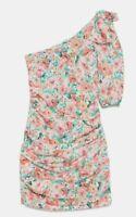 ZARA WOMAN NWT SALE! FLORAL PRINT ASYMMETRIC DRESS SIZE XS REF: 2587/158