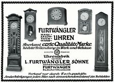 Furtwangler Clock Germany German Ad 1903 Grandfather Clock Advertisement Xc Merchandise & Memorabilia