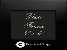 University of Georgia  - 4x6 Brushed Metal Picture Frame - Black
