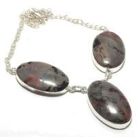 Picasso Jasper  Gemstone Handmade 925 Sterling Silver Jewelry Necklace 18 8238