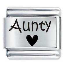 9mm  Italian Charm L58 Aunty Auntie Aunt Fits Classic Size Bracelet