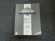 2003 Chevy Silverado 1500 2500 3500 Pickup Truck Service Repair Manual LS LT SS
