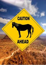 Australian Style Road Sign Novelty Road Sign Caution Horses Sign Gift Sign Pony