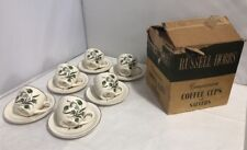Vintage Boxed Set Of 6 Russell Hobbs Companion Coffee Cups Saucers Crocus