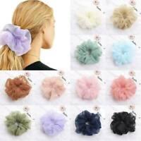 Women Organza Mesh Hair Ropes Rings Scrunchie Ties Elastic Ponytail Holder New