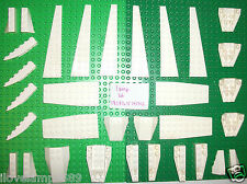 LEGO White Wedge Airplane Plate 47398 2413 43713 47397 42023 43721 43711 10231