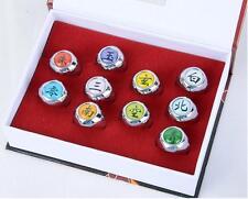 Dz788 Anime cosplay 10pcs set naruto akatsuki member's ring set gift with box~