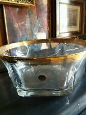 splendido centrotavola con decoro spiga di grano in oro zecchino