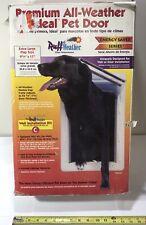 "New listing Ideal Pet Dog Door 9.75"" x 17"" Dual Flaps Extra Large - No Hardware"