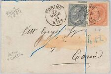 53830  - ITALIA REGNO - Storia Postale: DE LARUE  Torino su BUSTA 1864