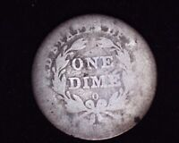 1839 O Seated Liberty Silver Dime 10c Huge O  Variety - 106