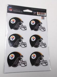 Pittsburgh Steelers 6-Pack of Magnets Wincraft 6 Steelers Helmet Magnets New