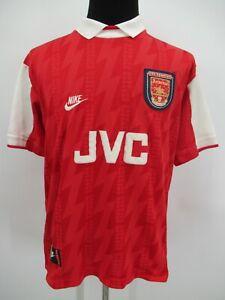 P4751 VTG 90's Nike Men's Arsenal F.C. JVC Soccer Jersey Size L