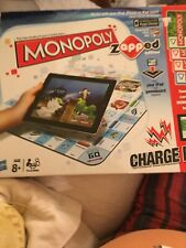 Monopoly Zapped Edition Board Game Works With iPad , I Phone Or iPod Touch