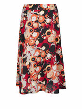 Calf Length A-line Floral Regular Size Skirts for Women