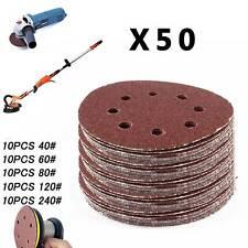 "50 - 125mm - 5"" Velcro Sanding Discs 40 60 80 120 240 Grit Orbital Sander Pads"