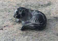 Vintage Boma Carved Argillite Figurine of a Black Seal