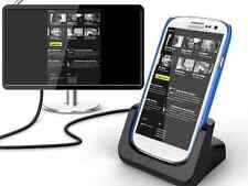 """KiDiGi - Base de carga para Samsung Galaxy S3, SIII, i9300 """"Cover Mate"""" con HDMI"""
